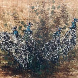 A Flock of Guinea Fowls