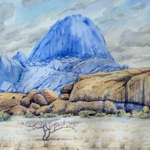 Spitzkoppe blue cloudy