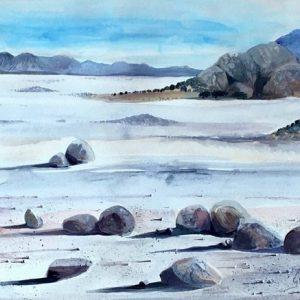 blue namib horizon desert
